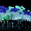 Запуск светящихся воздушных шаров