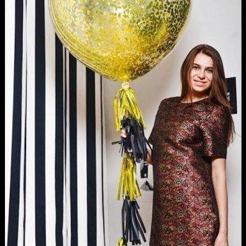Новогодний шар-гигант с конфетти