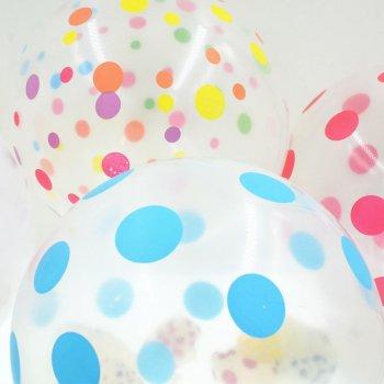Прозрачные шары в горошек