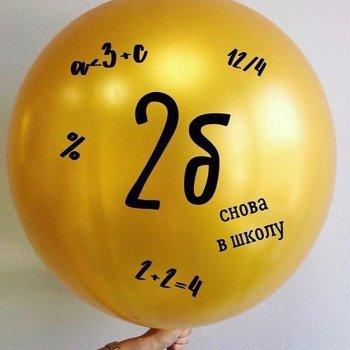 Индивидуальные надписи на больших воздушных шарах