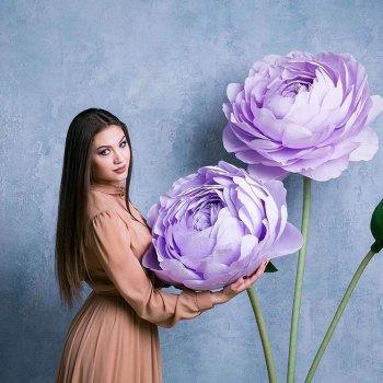 Фотозона из цветов