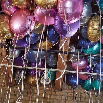 Матовые фольгированные шары