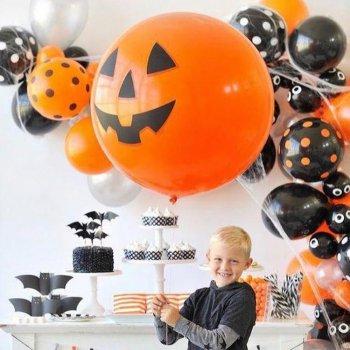 Украшение шарами на Хэллоуин
