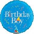 """middle-middle-color-center-center-0-0-0--1485460901.5872 Воздушные шарики """"С Днем рождения"""" Шар """"Birthday boy"""" (46 см)"""