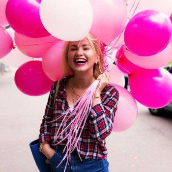 Розовый микс из 25 шариков