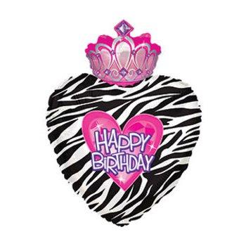 """middle-middle-color-center-center-0-0-0-1485455262.6349 SharikMarket.online - воздушные шары Воздушные шарики """"С Днем рождения"""" Шар """"Сердце с короной"""" (76 см)"""