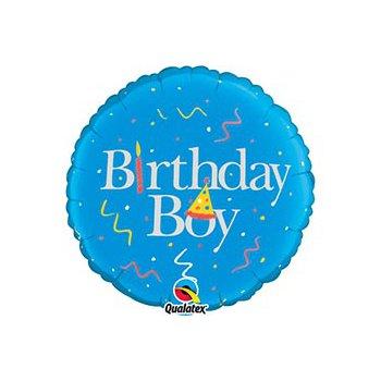 """middle-middle-color-center-center-0-0-0-1485460901.5872 Воздушные шарики """"С Днем рождения"""" Шар """"Birthday boy"""" (46 см)"""