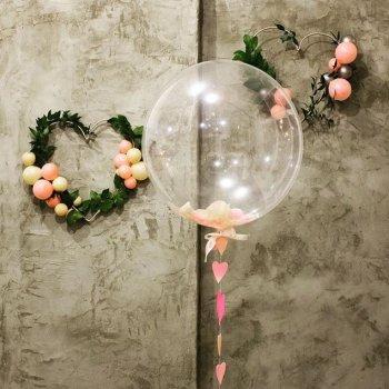 Bubble шарики с бумажными конфетти
