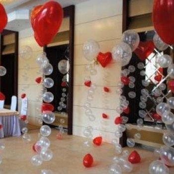 Воздушные шары сердца на гирлянде Bubbls