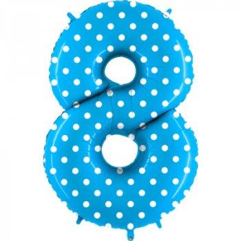 Воздушные шары - цифры в горошек