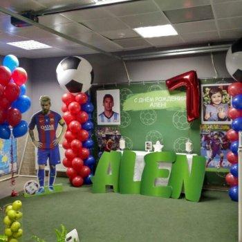 Оформление дня рождения в стиле футбол