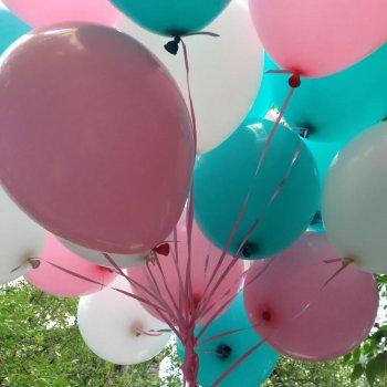 """middle-middle-color-center-center-0-0-0-1600258372.0476 SharikMarket.online - воздушные шары Облако из шаров с гелием Облако из шаров """"Розовая бирюза"""""""